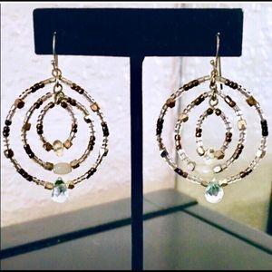Jewelry - Multi Hoop Beaded Earrings